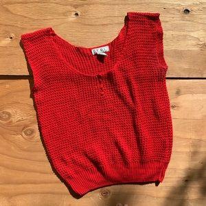 Vintage 80s Knit Semi Crop Tank